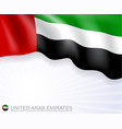 united arab emirates flag design banner vector image
