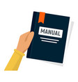 user manual icon flat style vector image