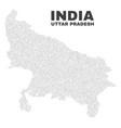 uttar pradesh state map of dots vector image vector image