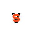 VS letter logo versus emblem V and S together vector image vector image