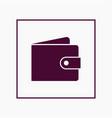 wallet icon simple vector image vector image
