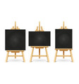 wood chalk easels or painting art boards isolated vector image vector image