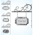 wrought iron signs for old-fashioned design vector image vector image
