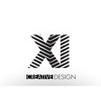 xi x i lines letter design with creative elegant vector image vector image