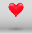 3d realistic helium heart red balloon holiday vector image