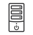 computer line icon pc and office vector image