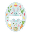 easter elements and icons set vector image
