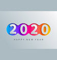 2020 new year elegant greeting card vector image vector image