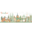 Abstract Barcelona Skyline with Color Buildings vector image vector image