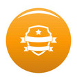 badge hipster icon orange vector image vector image