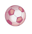 ball for playing soccer in light pink tones vector image
