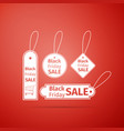 black friday sales tag icon isolated vector image