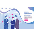 business communication consulting web template vector image vector image