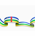 central african republic flag wavy abstract vector image