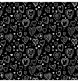 Chalk hearts sketch seamless texture vector image vector image