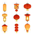 chinese festival lanterns china street asian vector image