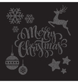 Christmas dots elements vector image
