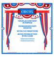 circus flat card vector image