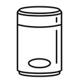 cloud smart speaker icon outline style