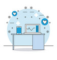 consulting room medical elements vector image vector image