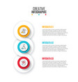 creative concept for infographic circles with 3 vector image vector image