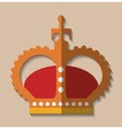 crown king gold design vector image