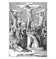 crucifixion christ vintage vector image vector image