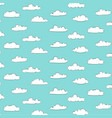 cute cloud patterns with blue background vector image
