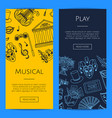doodle theatre elements banners vector image vector image