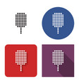 dotted icon ice cream in four variants vector image vector image