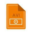 File AVI icon flat style vector image