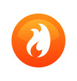 fire flame icon label - round vector image vector image