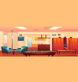 fire station recreation room empty interior vector image vector image