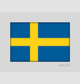 flag of sweden national ensign aspect ratio 2 to vector image