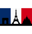 French Design with Paris Flag vector image vector image