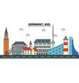 germany kiel city skyline architecture vector image vector image