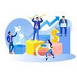 global data analysis business metaphor banner vector image
