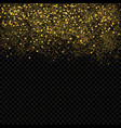 gold sparkles confetti gold glitter abstract vector image vector image