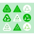 Green and white ecological recycle symbol sticker vector image vector image