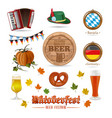icons set for oktoberfest vector image