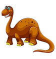 Large dinosaur smiling on white vector image vector image