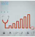 Line Diagram Stethoscope Health And Medical vector image