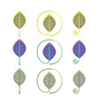 logo leaf eco sign set vector image vector image