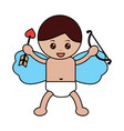 love cupid holding bow and arrow vector image vector image