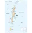 map indian archipelago andaman islands vector image vector image