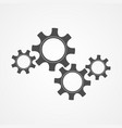 mechanical cog and gear black silhouette design vector image vector image