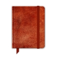 Natural Leather Notebook Copybook With Band And vector image vector image