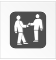 Office web icon Handshake Succes deal symbol vector image vector image