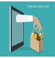 Online Grocery Ordering Delivery Concept