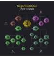 organization chart vector image